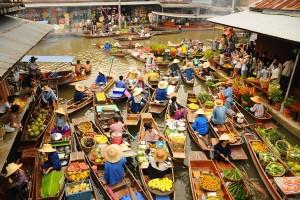 ตลาดน้ำยอดนิยมที่มีชื่อเสียงแหล่งท่องเที่ยวในไทย