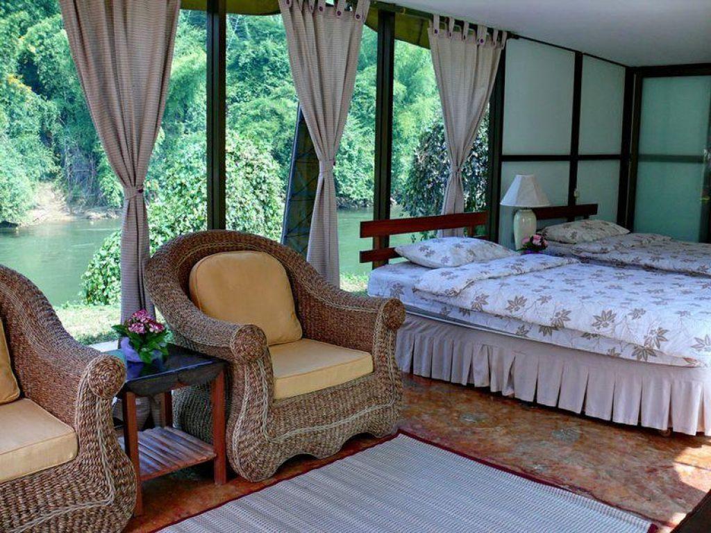 โรงแรม-ที่พักราคาไม่แพง-ในจังหวัดกาญจนบุรี วิวสวย ติดริมแม่น้ำ
