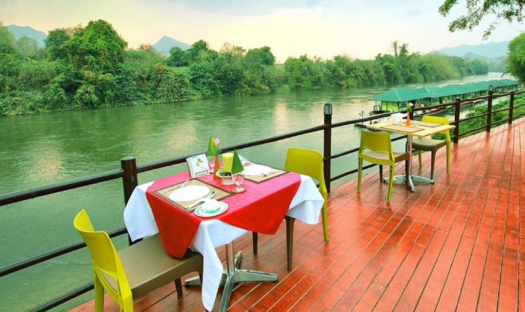 ที่พักสวยราคาถูก-ในจังหวัดกาญจนบุรี ติดริมแม่น้ำเงียบสงบ บรรยากาศดี