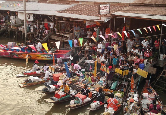 แวะเที่ยวตลาดน้ำในช่วงวันหยุดเสาร์-อาทิตย์-เที่ยวตลาดน้ำในไทย