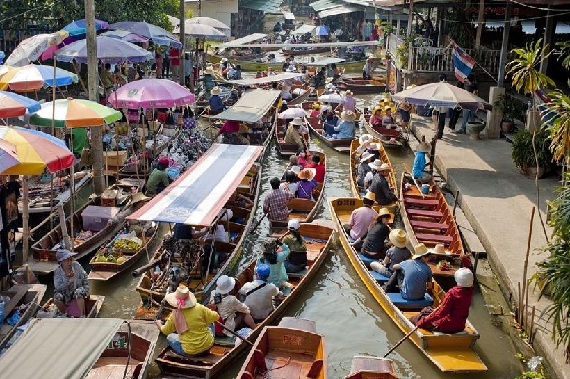 แนะนำตลาดน้ำที่มีชื่เสียงในไทย-แหล่งท่องเที่ยวยอดนิยมของนักท่องเที่ยว-สถานที่ท่องเที่ยวที่สำคัญ